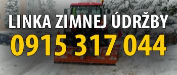 Linka zimnej údržby: 0915 317 044