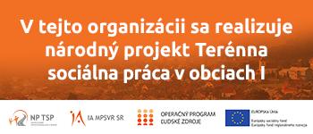 Národný projekt Terénna sociálna práca v obciach I - stránka sa otvorí v novom okne
