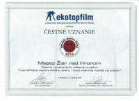 Čestné uznanie Enviro mesto roka 2010