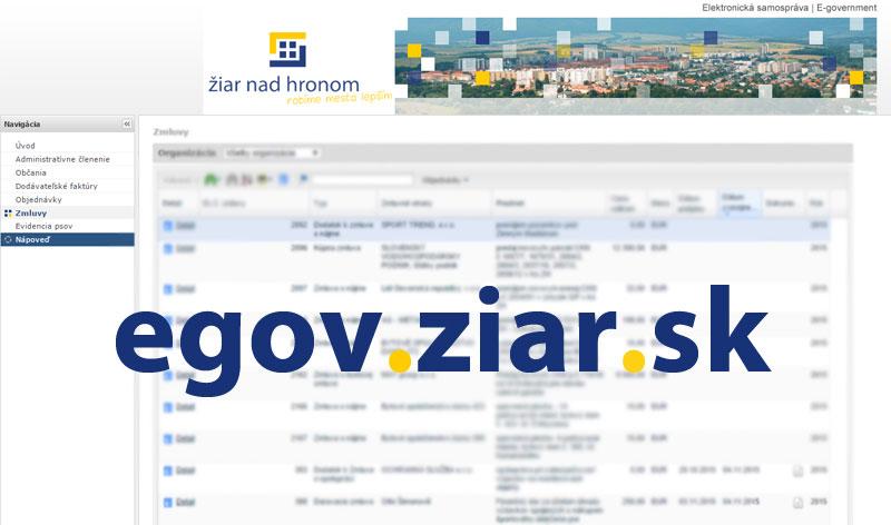 E-gov Žiar nad Hronom - Portál informačného systému mesta Žiar nad Hronom - stránka sa otvorí v novom okne