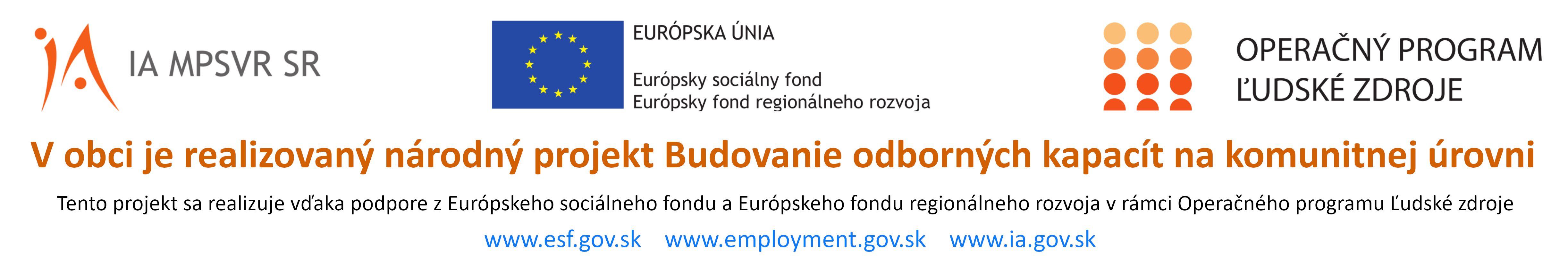 Národný projekt: Budovanie odborných kapacít na komunitnej úrovni (NP BOKKÚ) – projekt sa realizuje