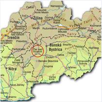 Žiar nad Hronom na mape Slovenska