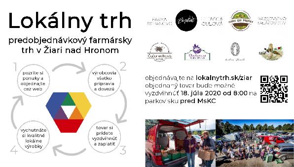 Lokálny trh v Žiari nad Hronom (18.7.2020)