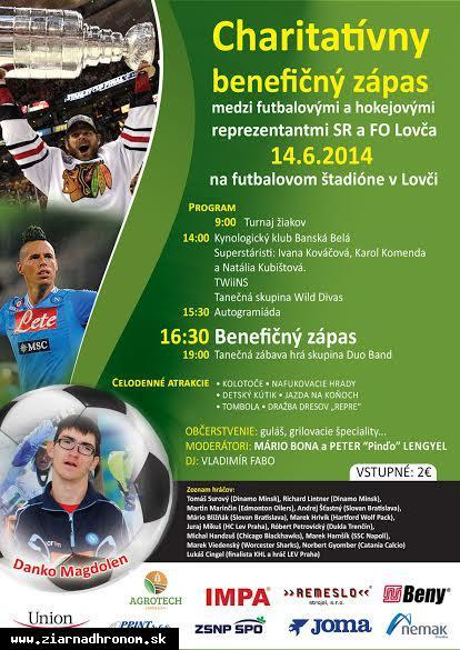 obr: Slovenské futbalové a hokejové hviezdy odohrajú benefičný zápas