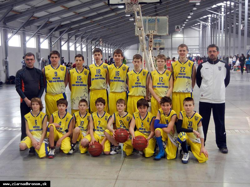 obr: Žiarski basketbalisti na medzinárodnom turnaji v Prahe