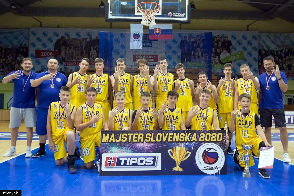 obr: Štvornásobní majstri Slovenska v basketbale sa zapíšu veľkými písmenami do histórie žiarskeho basketbalu