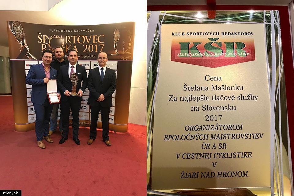 obr: Cena za najlepšie tlačové služby patrí komunikačnému tímu mesta Žiar nad Hronom