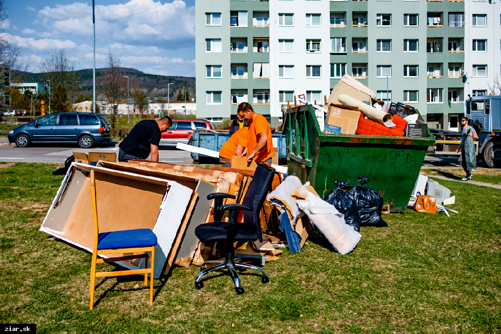 obr: Rozmiestnenie veľkokapacitných kontajnerov počas Dní jesennej čistoty