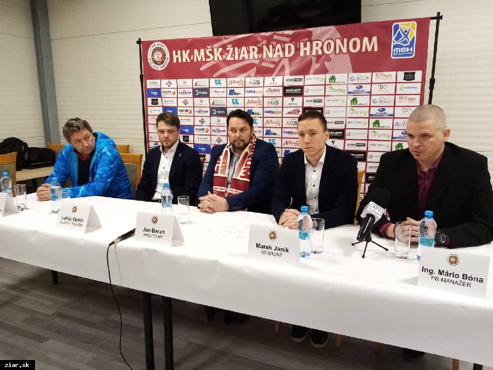 obr: HK MŠK ohlásil zmenu trénera