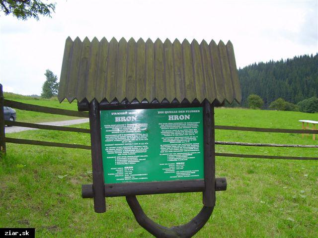 obr: Najkrajší kút - od prameňa Hrona do Žiaru nad Hronom