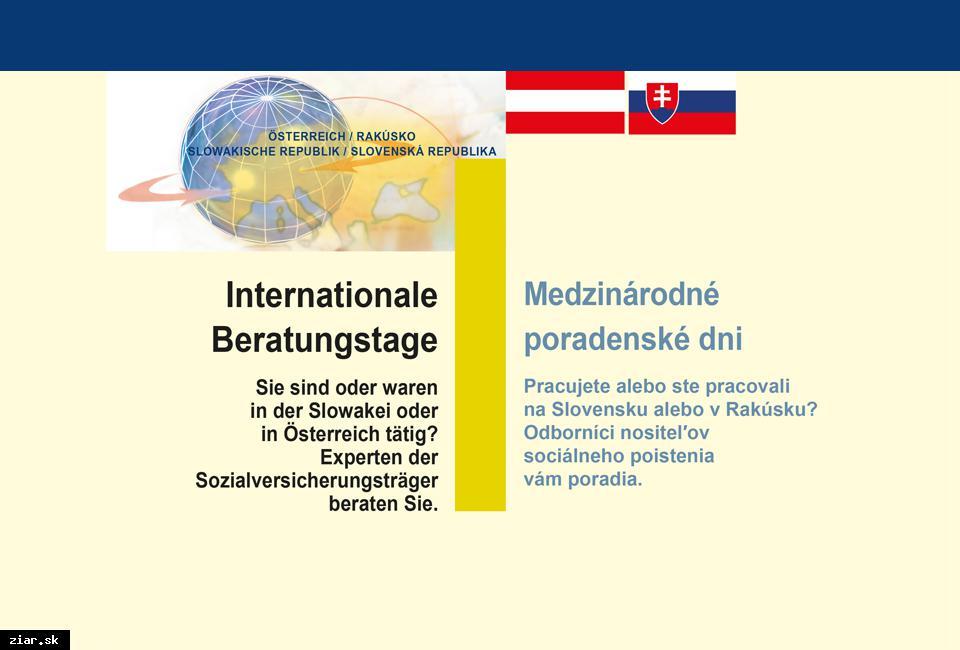 obr: V Bratislave bude 15. októbra slovensko-rakúsky poradenský deň k dôchodkom