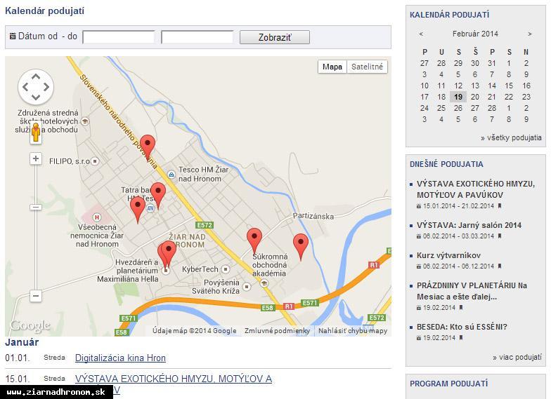 obr: Dajte vedieť o svojom podujatí prostredníctvom mestského webu