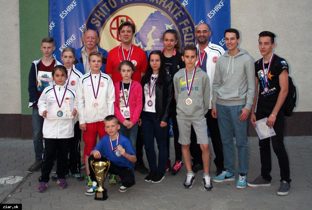 obr: Majstrovstvá Európskej shitoryu karate federácie boli pre Žiarčanov úspešné