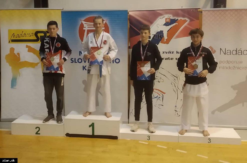 obr: Šesť celkových víťazov Slovenského pohára v karate