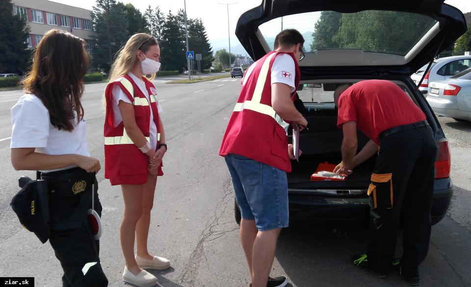 obr: Preventívna akcia preverila vodičov zo znalosti prvej pomoci