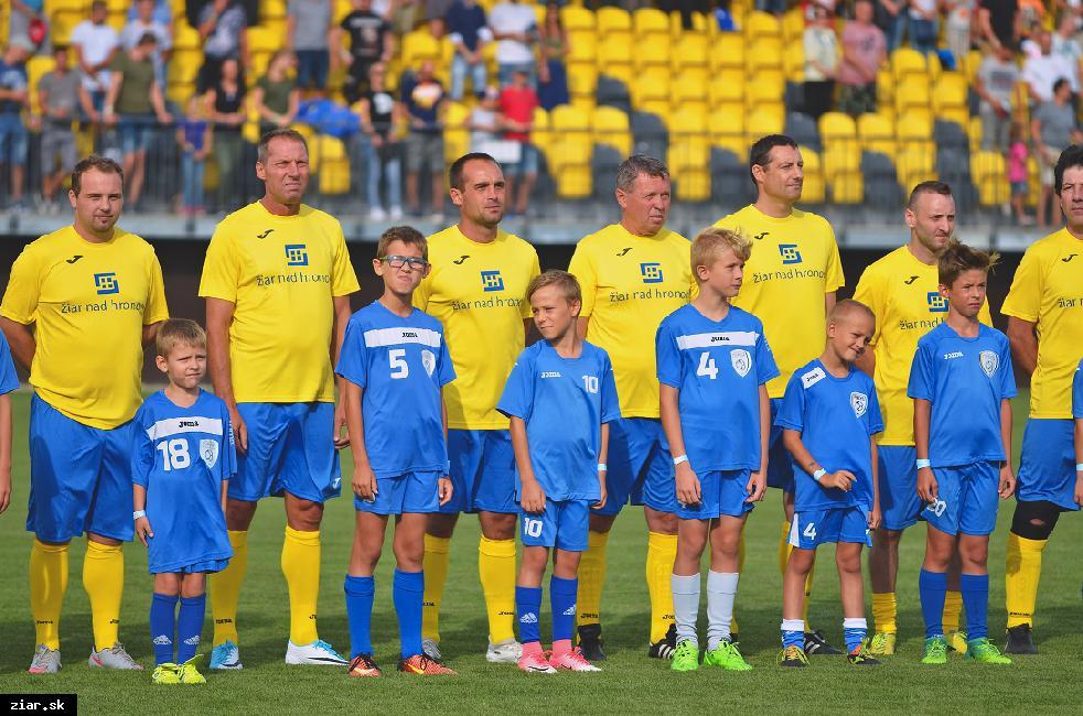 obr: Legendy FK Žiar nad Hronom v zápase proti Svitavákom