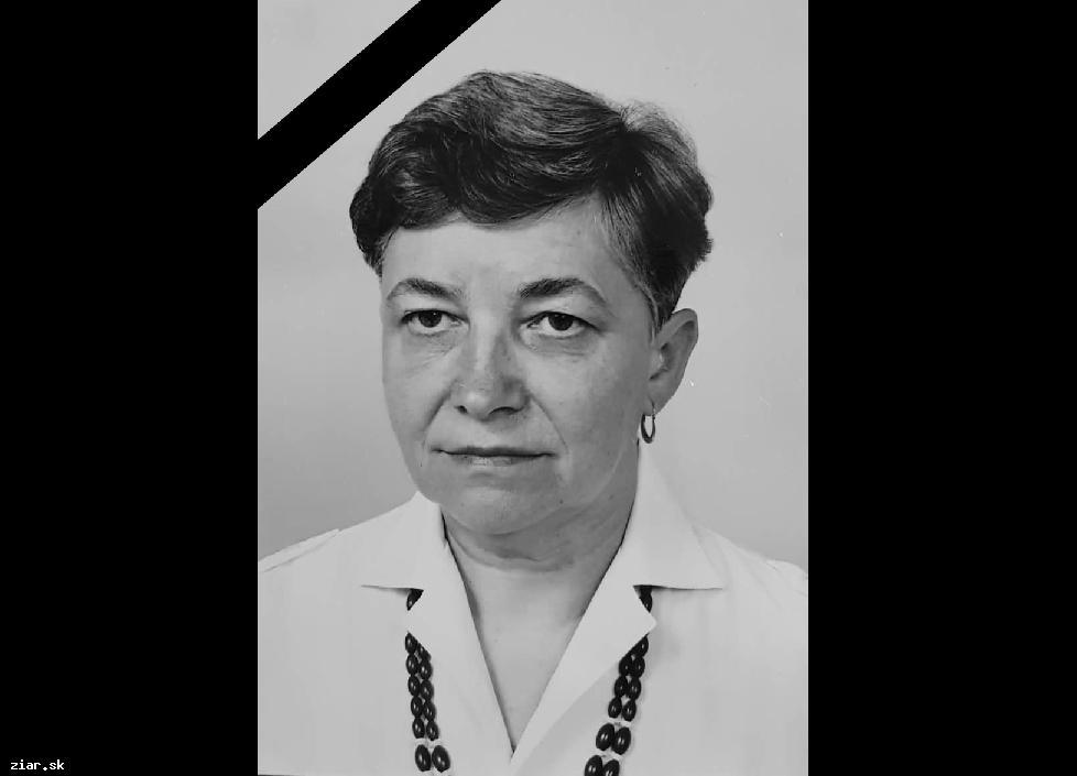 Opustila nás Mária Zaťková