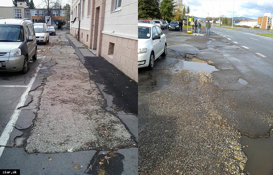 obr: Mesto tohto roku opraví cesty a chodníky o výmere viac ako 34 000 metrov štvorcových