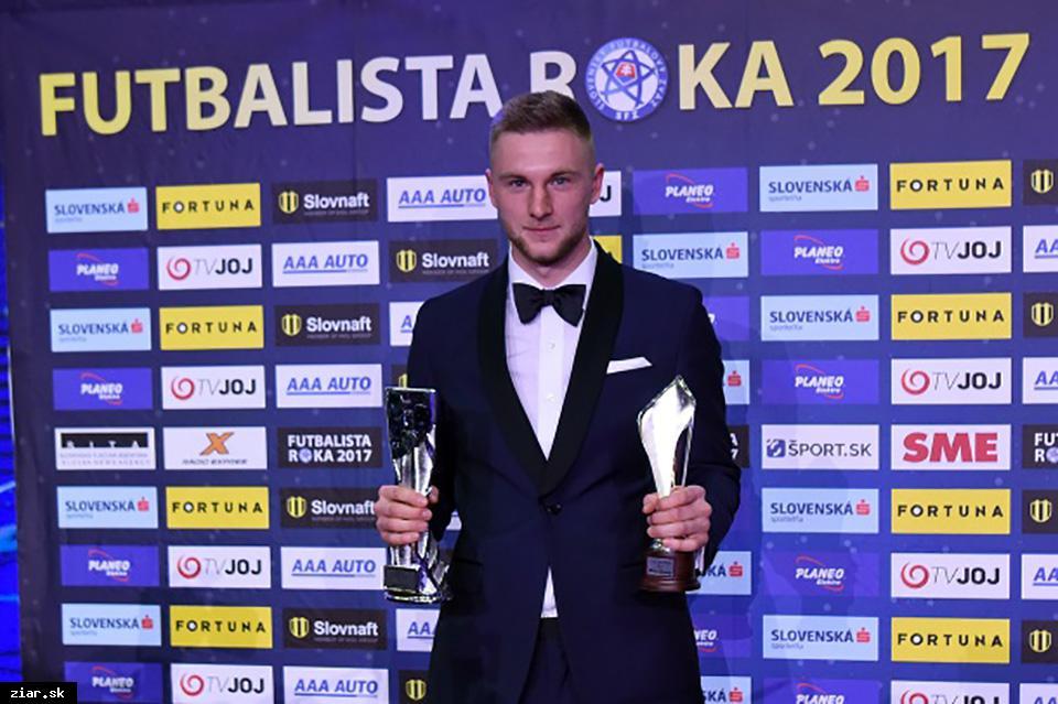 Žiarčan Milan Škriniar získal cenu fanúšikov a stal sa druhým najlepším futbalistom roka 2017