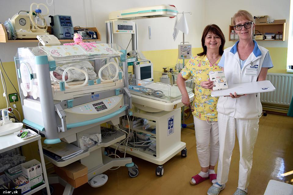 Žiarska nemocnica dostala pre novorodencov monitory dychu
