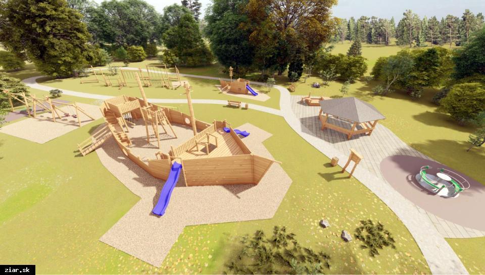 obr: Nové bezbariérové ihrisko vyrastie na Oddychovej zóne Etapa