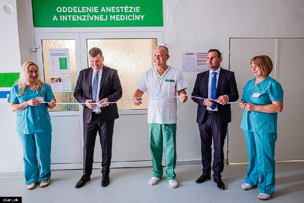 obr: Žiarska nemocnica zrekonštruovala oddelenie anestéziológie a intenzívnej medicíny