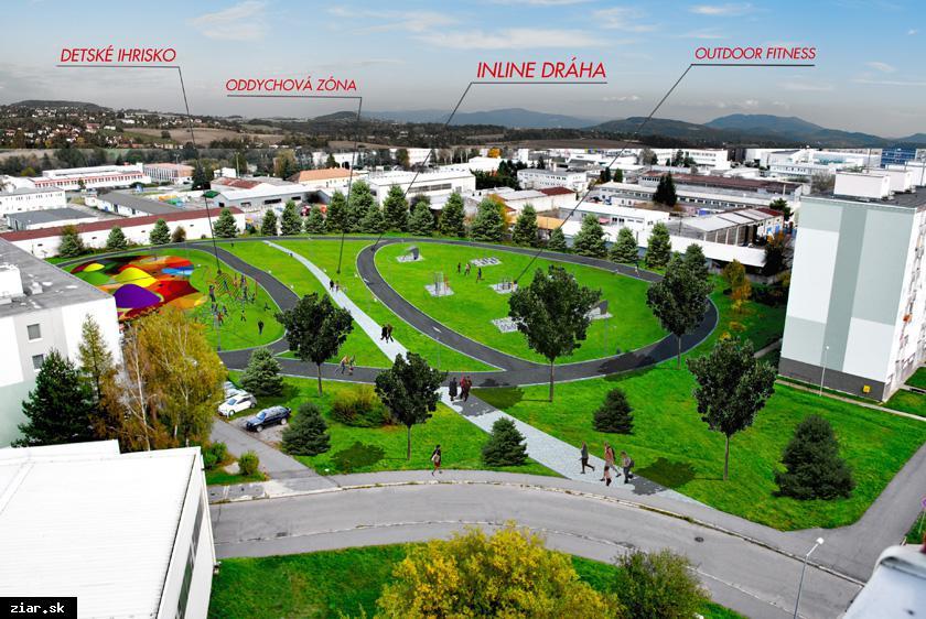 obr: Novú oddychovú zónu budú mať aj obyvatelia Etapy