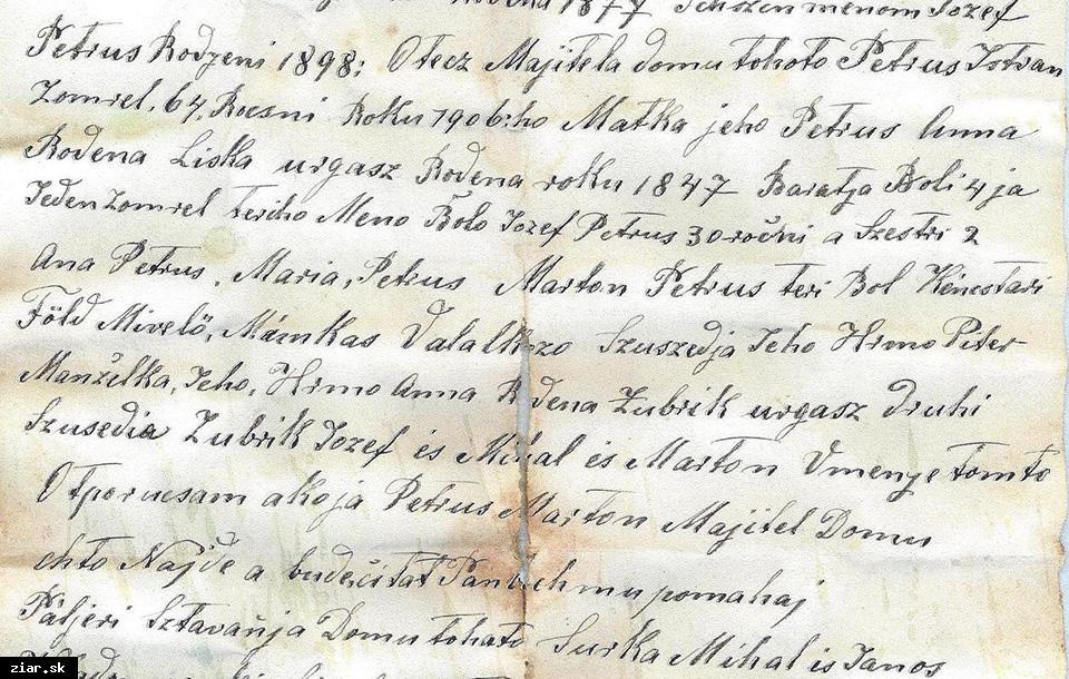 obr: Nález listiny v dome na Svätokrížskom námestí