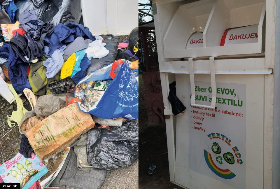 obr: Mesto zvažuje odstránenie kontajnerov na šatstvo