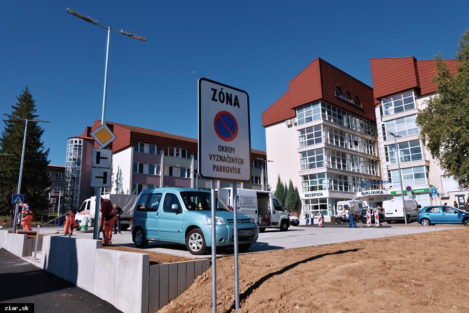 obr: Takto bude spoplatnené parkovanie pred žiarskou nemocnicou