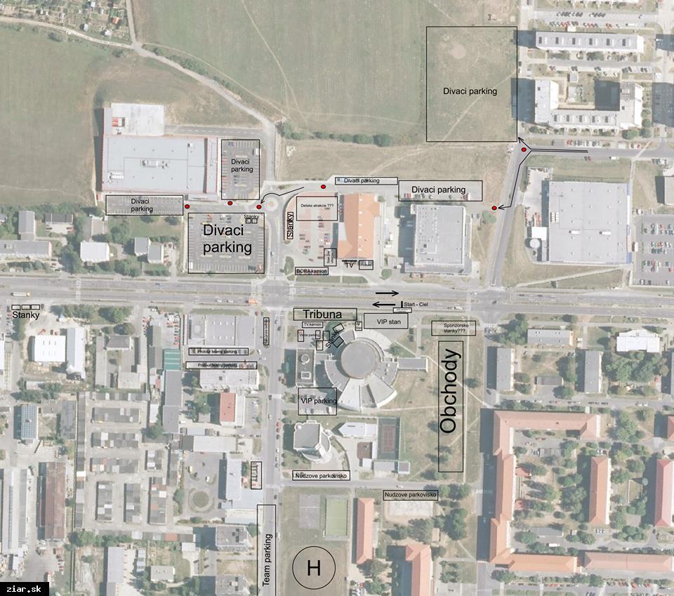 obr: Počas cyklistických pretekov bude mesto uzavreté. Zaparkovať môžete na týchto miestach
