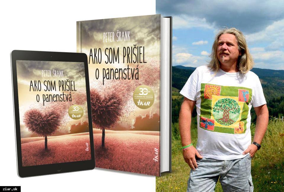 obr: Spisovateľ Peter Šrank s novou knihou Ako som prišiel o panenstvá