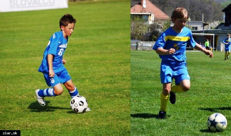 obr: Samuel Urgela a Adrián Pivarči v reprezentácii Slovenska U12
