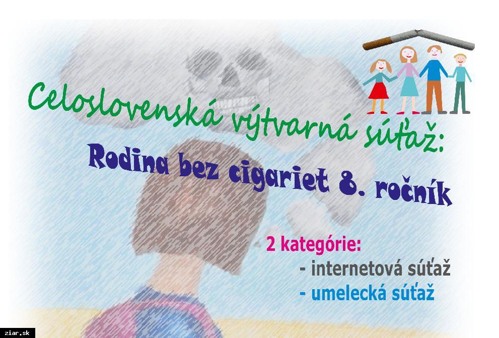 obr: Celoslovenská výtvarná súťaž: Rodina bez cigariet 8.ročník