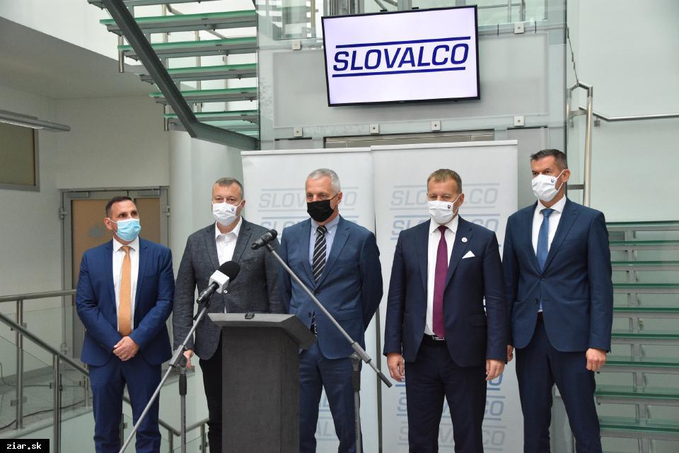 obr: Predseda NR SR Boris Kollár v Slovalcu o ohrozených pracovných miestach