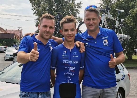 Lukáš Ungvarský je juniorský majster Slovenska v cestnej cyklistike