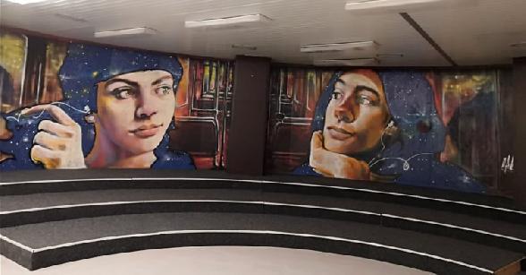 Klub mladých v štýle streetart