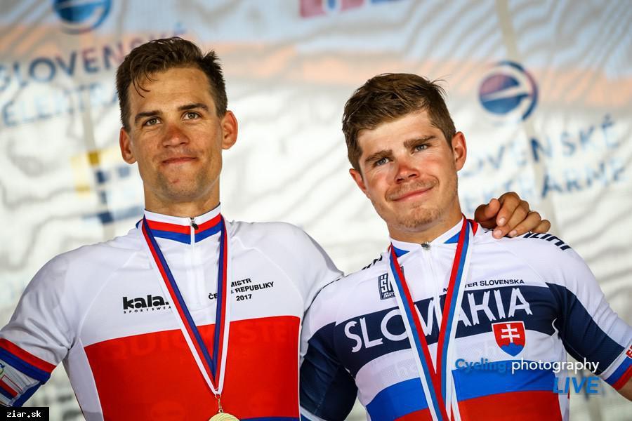 obr: Cyklistickým majstrovstvám dominovali českí pretekári. Medzi Slovákmi dominovali bratia Saganovci
