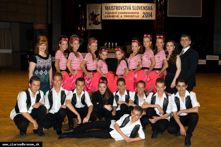 obr: Hattrick žiarskych tanečníkov