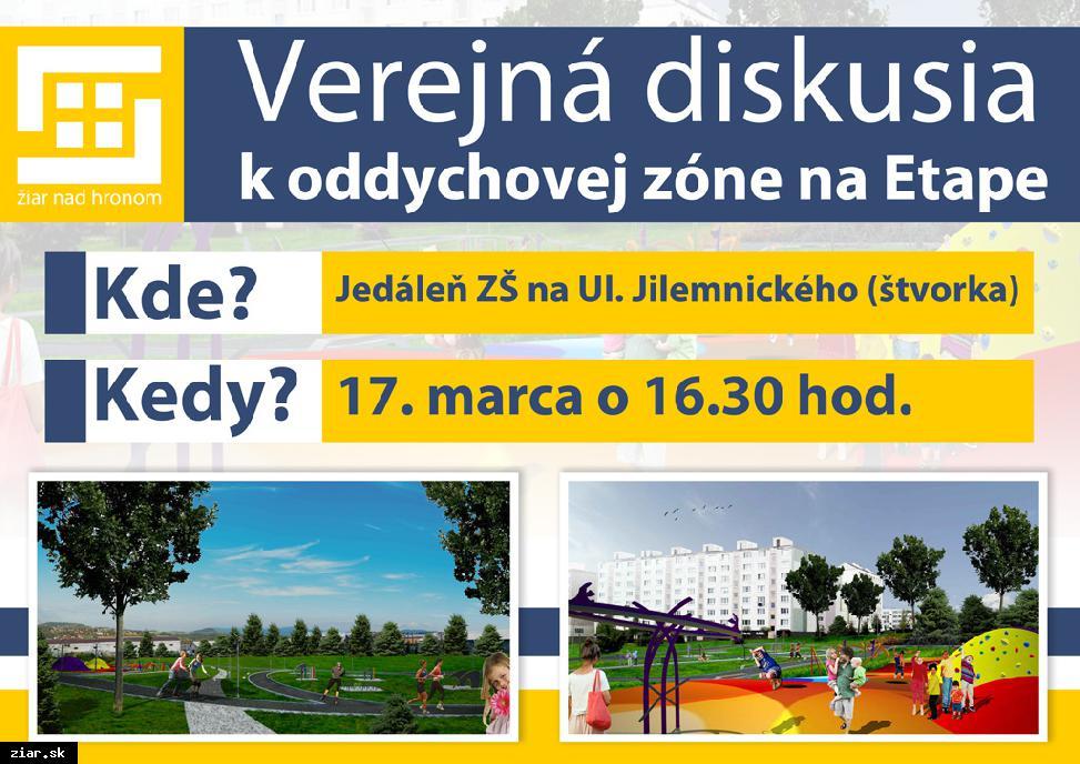 obr: Pozývame vás na verejnú diskusiu k oddychovej zóne na Etape