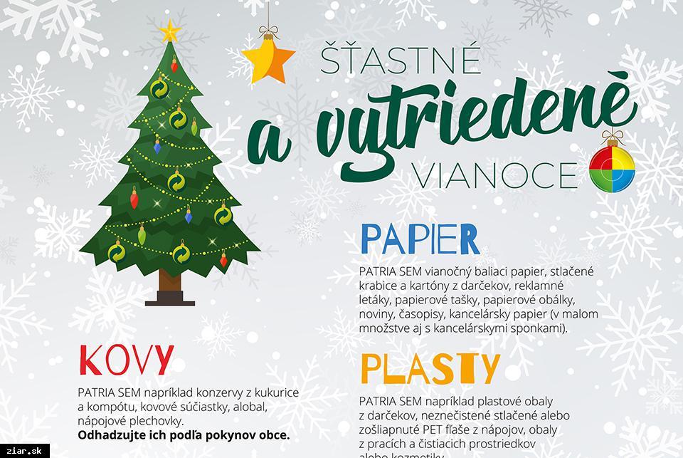 obr: Trieďte odpad aj počas sviatkov
