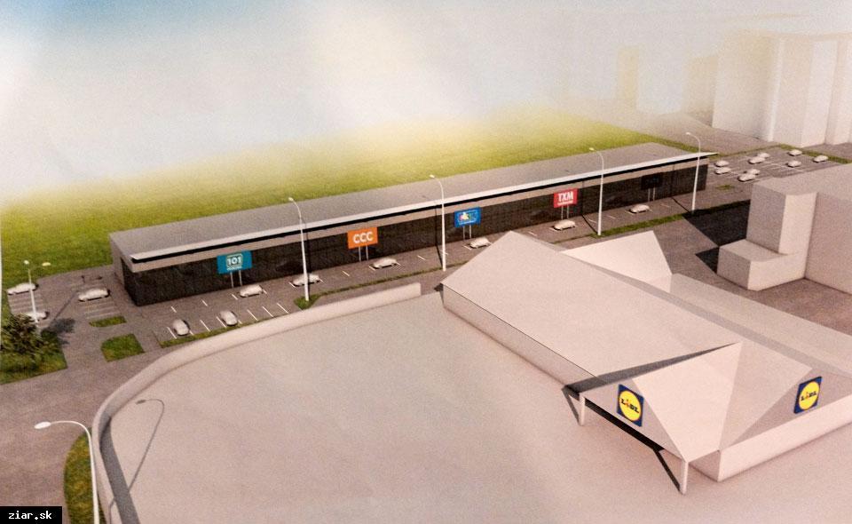 obr: Miestny podnikateľ plánuje výstavbu ďalšieho nákupného centra