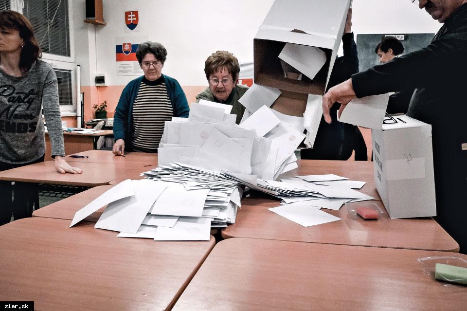 obr: Výsledky hlasovania vo voľbách do NR SR 2016 v Žiari nad Hronom