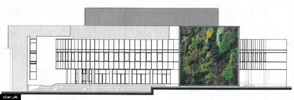 obr: Zelená vegetačná stena ako zachytávač zrážkovej vody