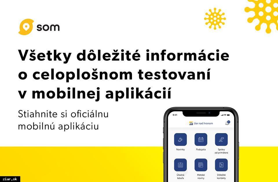obr: Adresné a najrýchlejšie informácie o testovaní v meste Žiar nad Hronom