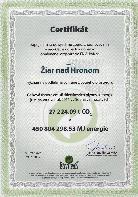 Ďalší ENVI-PAK certifikát