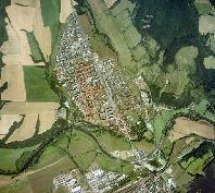 Letecký pohľad na Žiar nad Hronom