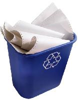 Papier patrí do modrej separačnej nádoby