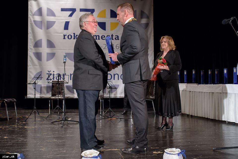 Vladimír Varga - za mimoriadny prínos pre rozvoj hokeja v Žiari nad Hronom